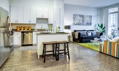 Kitchen, Postmark Apartments, 0