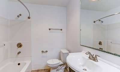 Bathroom, Beverly Grove Apartments, 2