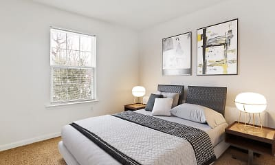 Bedroom, Crooked Hill Townhomes, 2