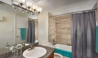 Bathroom, Steeplechase Apartments, 2