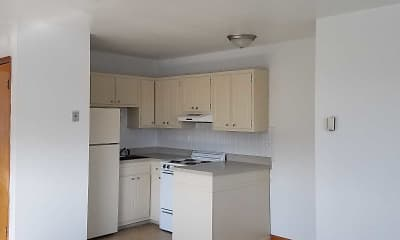 Kitchen, Pine Manor Apartments, 1