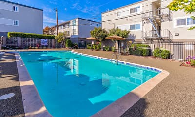 Pool, 3655 Colegrove Apartments, 1