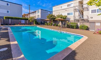 Pool, 3655 Colegrove Apartments, 1