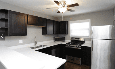 Kitchen, Warwick Court Townhomes, 0