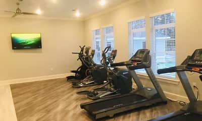 Fitness Weight Room, The Palladian at Promenade, 2