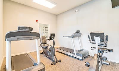 Fitness Weight Room, Jamestown Woods Apartments, 2