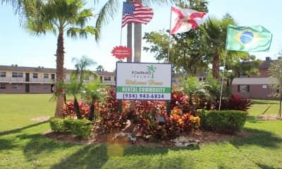 Community Signage, Pompano Palms, 2