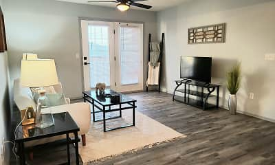 Living Room, South Valley Apartments, 0