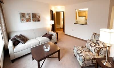 Living Room, Berkshire At Kensington Senior Apartments, 1