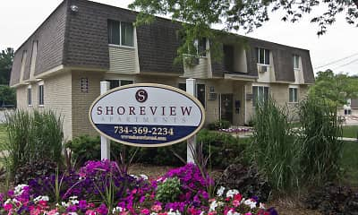 Community Signage, Shoreview Apartments, 0