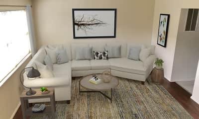 Living Room, Falcon Way Apartments, 1