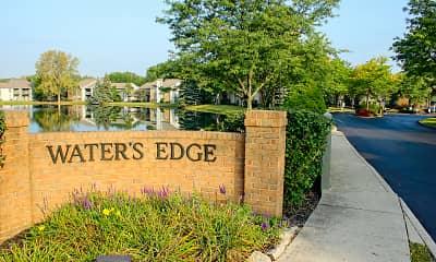 Community Signage, Waters Edge Luxury Apartments, 2