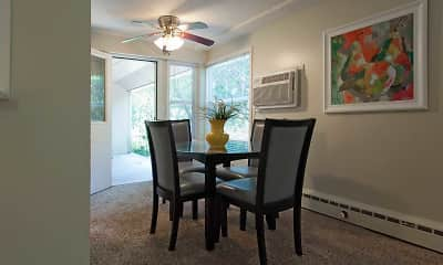Dining Room, Valley Village Apartments, 1
