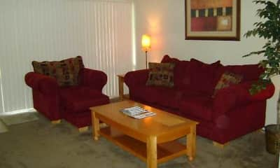 Living Room, Cabana West Apartments, 1