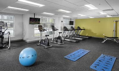 Fitness Weight Room, Residences at 62W, 2