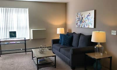 Living Room, Countryside Apartments, 0