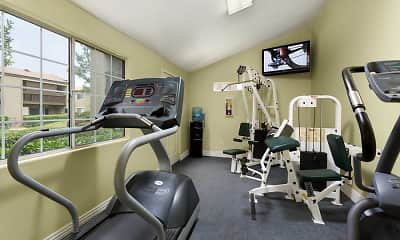 Fitness Weight Room, eaves San Dimas, 1