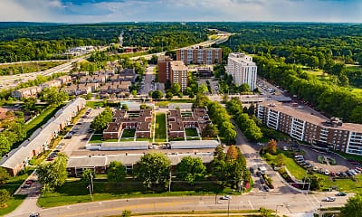 view of drone / aerial view, Pine Ridge Apartments, 2