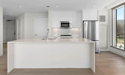 Kitchen, Alcott Apartments, 1