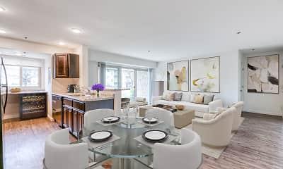 Living Room, Woodside Apartments, 0
