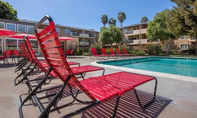 Pool, Carriage House Apartments, 2