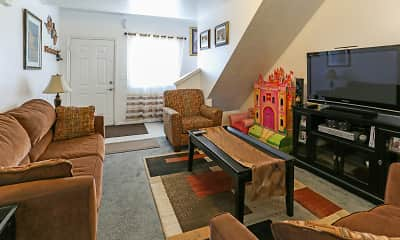 Living Room, Compass Court Townhomes, 1