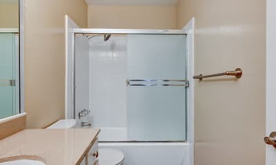 Bathroom, Tradewinds Apartments, 2