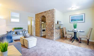 Living Room, Willow Lake Apartments, 1