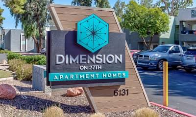 Community Signage, Dimension on 27th, 2