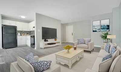 Living Room, Woods Edge Apartment Homes, 1