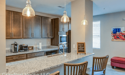 Kitchen, Crawford House Apartments, 1