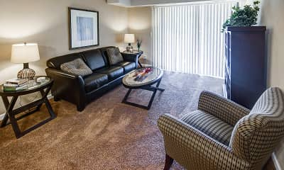 Living Room, Brookdale Apartments, 1