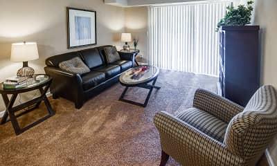 Living Room, Brookdale Apartments, 1