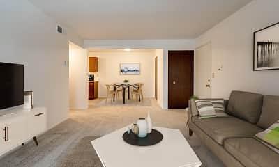 Living Room, Fox Pointe Apartments, 2