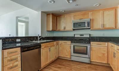 Kitchen, The Mayfair Residences at Santa Monica Beach, 0