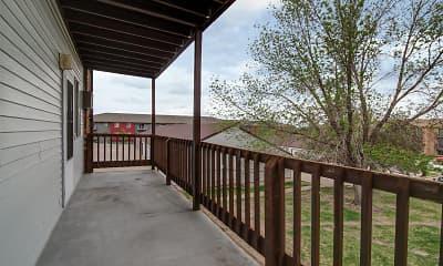 Patio / Deck, College Park Apartments, 2