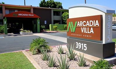 Community Signage, Arcadia Villa Apartments, 0