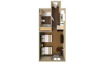 Furnished Studio - Chicago - Westmont - Oak Brook, 2