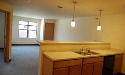 Kitchen, Eagle Harbor Apartments, 1