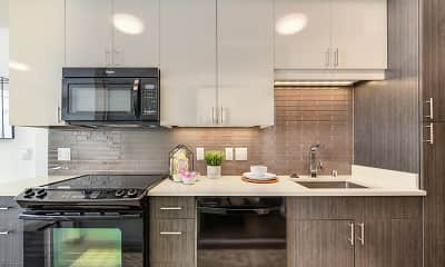 Kitchen, Rivet Apartments, 1