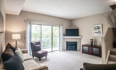 Living Room, The Village At Pine Ridge, 1