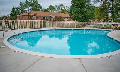 Pool, Oak Forest Apartments, 2