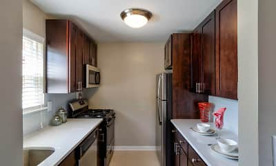 Kitchen, Metropark Station Apartments, 0