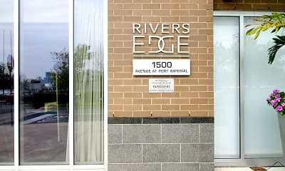 Community Signage, Rivers Edge at Port Imperial, 2