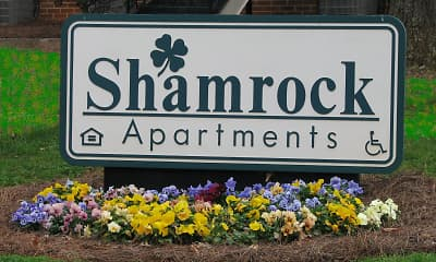 Community Signage, Shamrock Apartments, 0