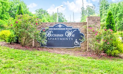 Community Signage, Buchanan Way Apartments, 2