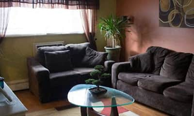 Living Room, Emerald Village Apartments, 1