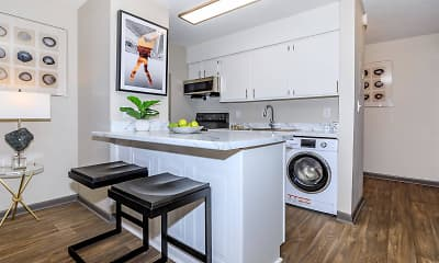 Kitchen, Innovation Flats at Research Park, 2