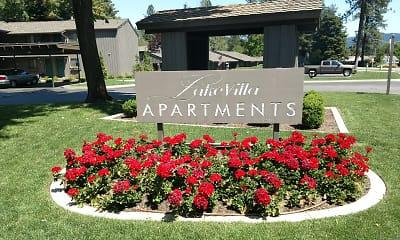 Community Signage, Lake Villa Apartments, 0