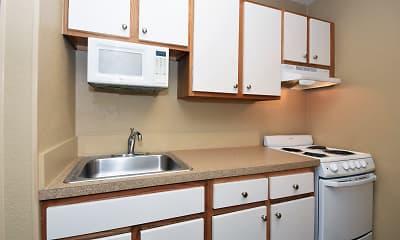 Kitchen, Furnished Studio - Louisville - Hurstbourne, 1